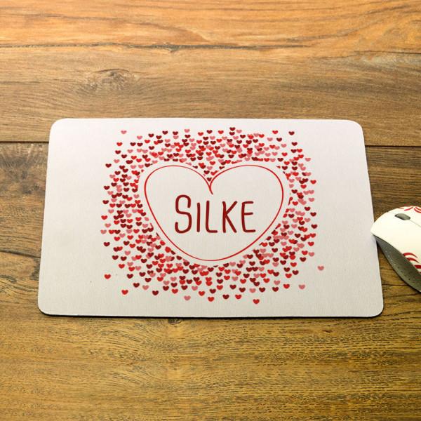 Mousepad mit Wunschmotiv für Frauen
