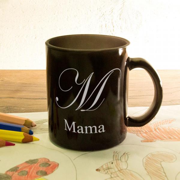 Glas Zaubertasse satiniert mit Wunschmotiv zum Muttertag