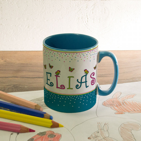 Tasse für Kinder mit Wunschmotiv