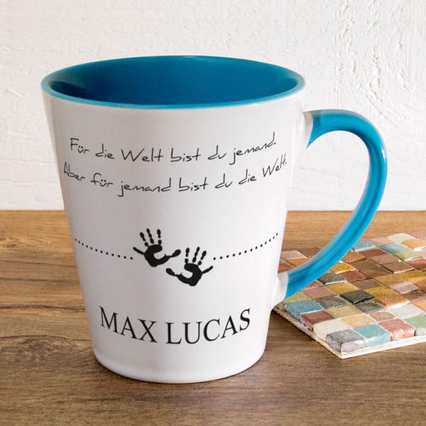 Tasse FUNNY Latte klein mit Wunschmotiv für Kinder