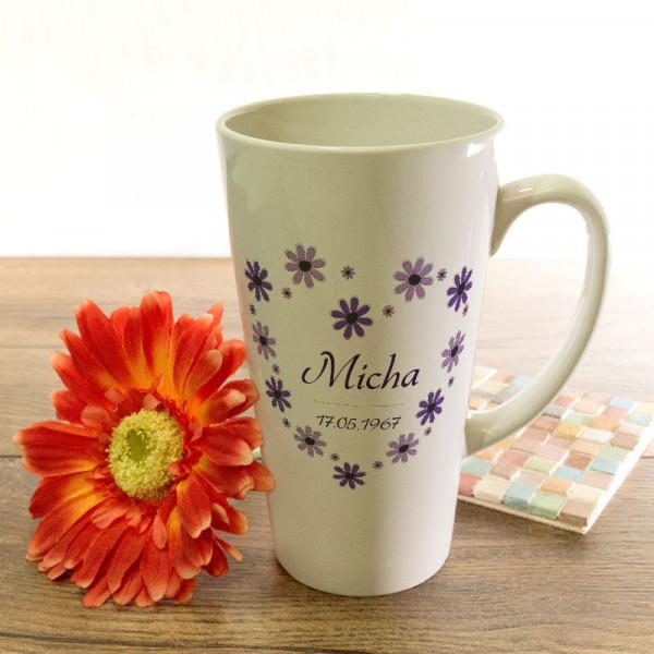 Große Tasse Latte mit Wunschmotiv für Männer