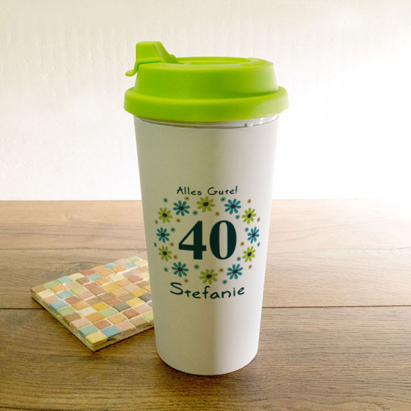 Personalisierter Trinkbecher zum 40.