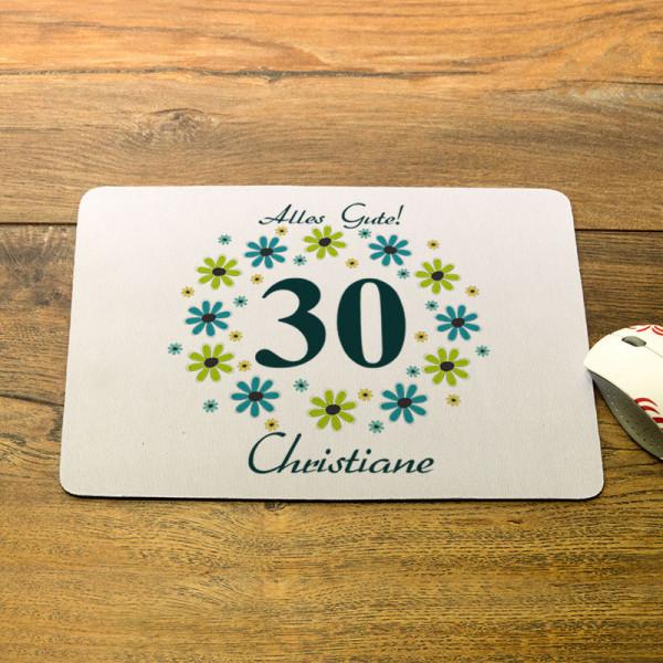 Personalisiertes Mousepad zum 30.