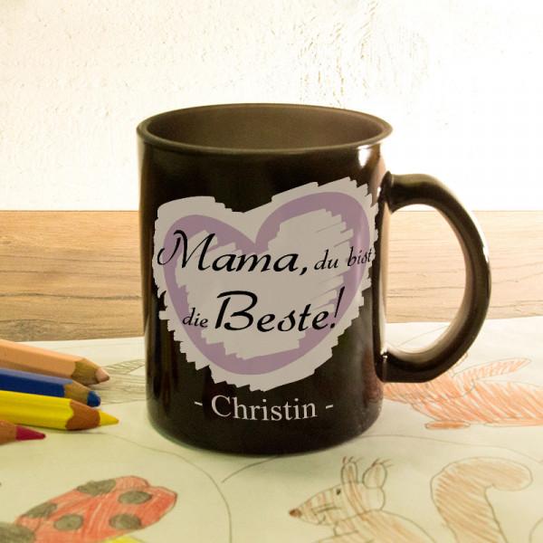 Personalisierte Glas Zaubertasse satiniert zum Muttertag