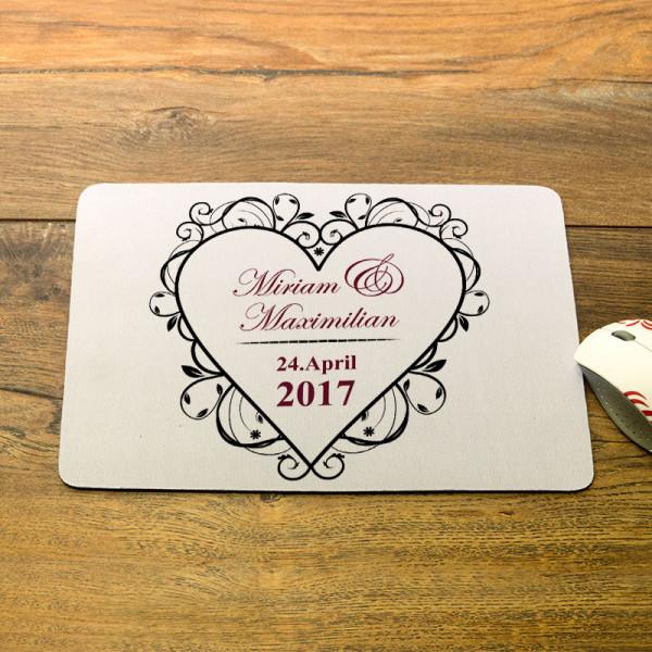 Personalisiertes Mousepad zur Hochzeit
