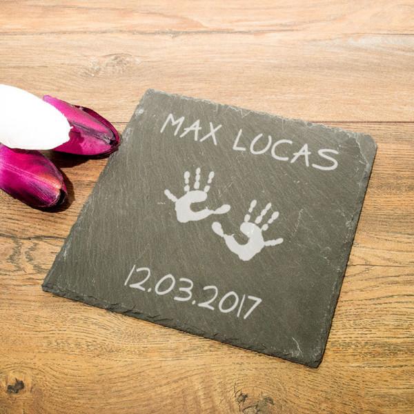 Personalisierte eckicke Schieferplatte für Kinder