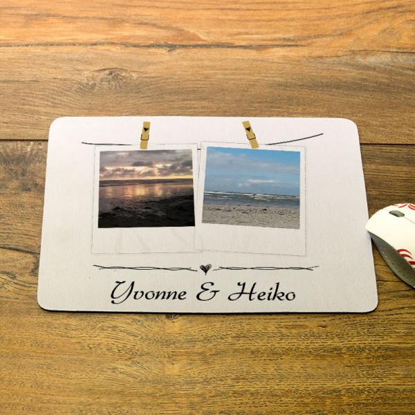 Personalisiertes Mousepad mit Ihren Lieblingsfotos zur Hochzeit