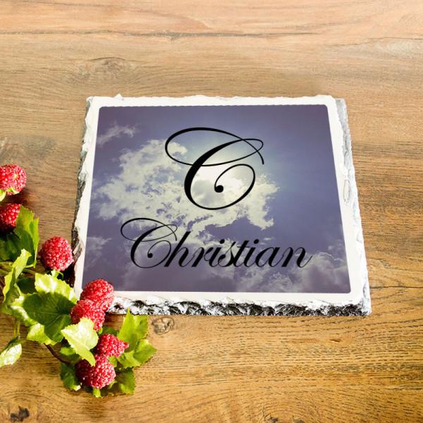 Personalisierte Platte aus Granit zum Vatertag