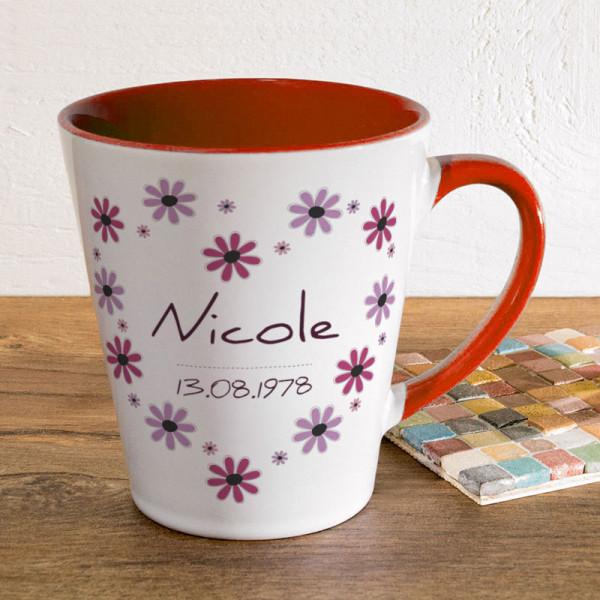 Tasse FUNNY Latte klein mit Wunschmotiv zum Geburtstag
