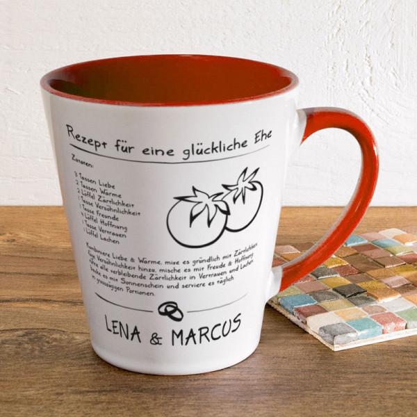 Tasse FUNNY Latte klein mit Wunschmotiv zur Hochzeit