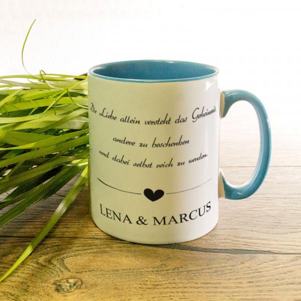 Tasse mit Wunschmotiv Anlass/Liebe