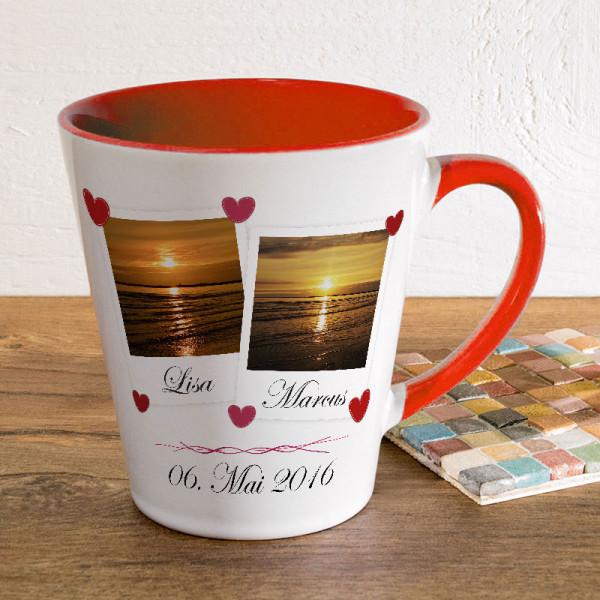 Tasse FUNNY Latte klein zur Hochzeit mit Ihren Wunschfotos