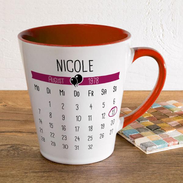 Tasse FUNNY Latte klein mit Wunschmotiv für Frauen