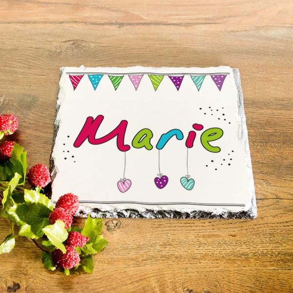 Platte aus Granit mit Wunschmotiv zum Geburtstag