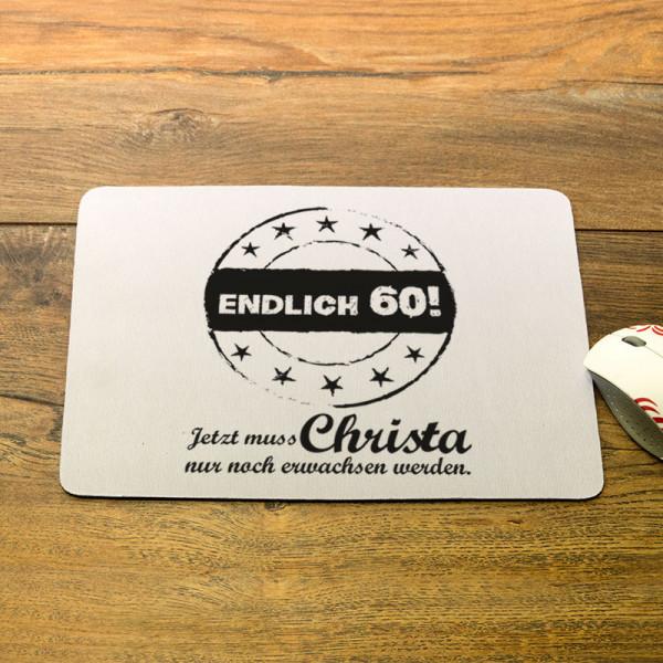 Personalisiertes Mousepad zum 60.