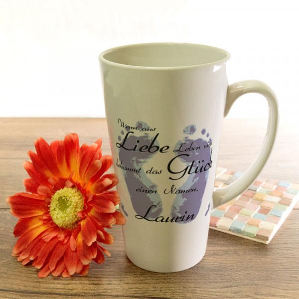 Personalisierte große Tasse Latte für Kinder