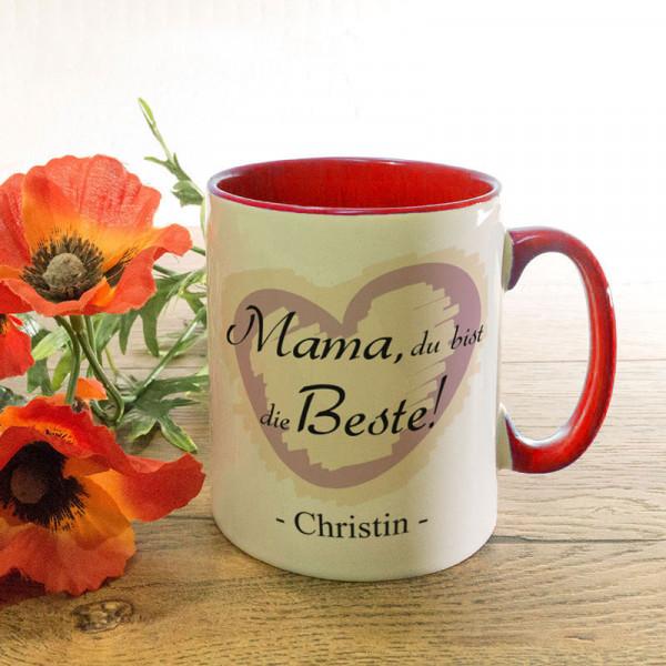 Tasse mit Wunschmotiv zum Muttertag