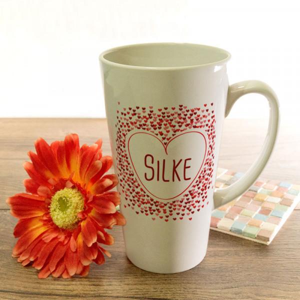 Große Tasse Latte mit Ihrem Lieblingsmotiv zum Muttertag